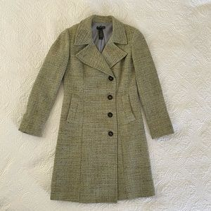 Kenneth Cole tweed coat, newly lined
